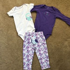 Carter's 3pc set for Toddlers
